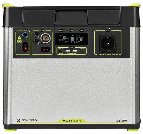 Goal Zero Yeti 3000X (230V) EU universal version, WiFi, przenośna stacja energii Li ion NMC, solarny generator. agregat prądotwórczy.